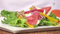 RECETA: ¡Prepara una deliciosa ensalada de sandía con queso ranchero!