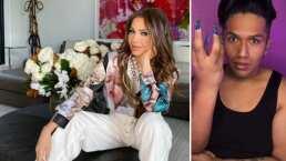 Este tiktoker logró convertirse en 'la gemela' de Thalía y lo hizo solo con maquillaje