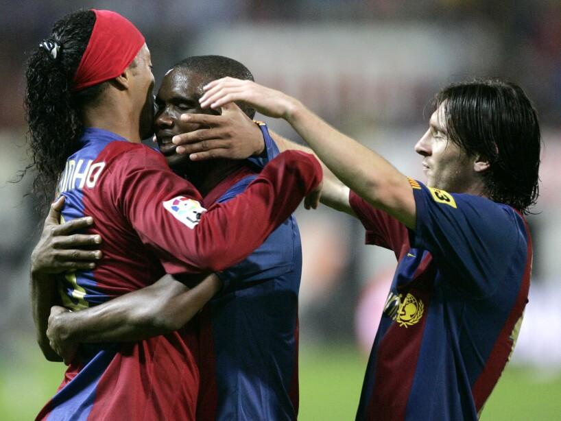 Ronaldinho, Samuel Eto'o, Lionel Messi