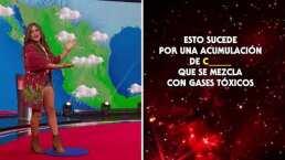 ¡Como Yanet García! Mariana se convierte en la chica del clima en 'Las noticias'