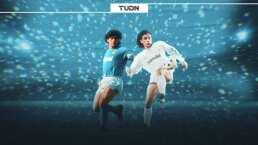 Cuando el ídolo argentino se midió al ídolo mexicano en la UEFA