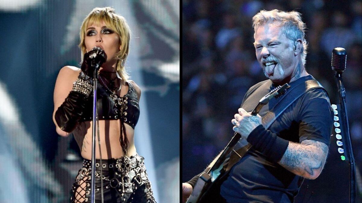 Metallica llenó de elogios a Miley Cyrus por 'Nothing Else Matters'   Música   Telehit