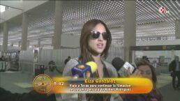 Eiza González escapa de la prensa