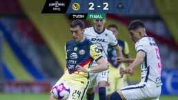 América 2-2 Pumas   Gran clásico capitalino pese a las ausencias