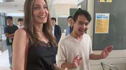 Angelina Jolie lloró al dejar a su hijo Maddox en la universidad