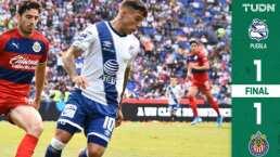 Con el arbitraje como protagonista, Chivas y Puebla empataron en el Cuauhtémoc