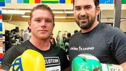 Adrián González 'entrena' box con el Canelo