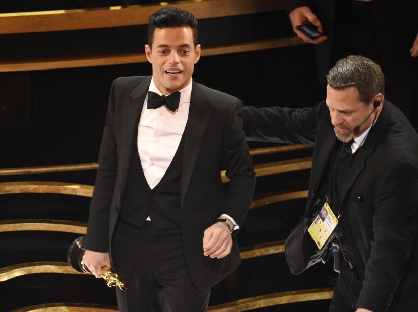 Rami Malek con su Óscar