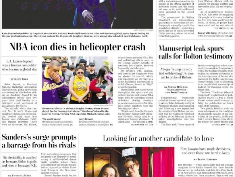 Kobe Bryant, periódico, THE WASHINGTON POST.jpg