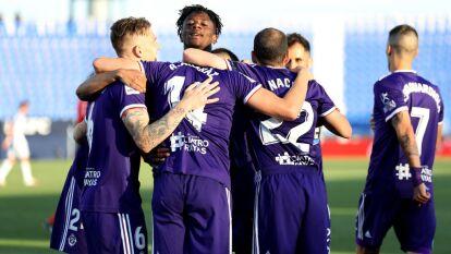 Con goles de Rubén Alcazar y Enes Unal, el Real Valladolid logra imponerse en su visita al Leganés.