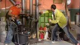Vecinos: Germán tapa la tubería del edificio
