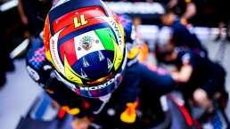 Red Bull presumió el casco de Checo Pérez con la bandera de México