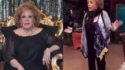Silvia Pinal demuestra que sigue siendo una excelente bailarina, y lo hace al ritmo del reggaetón