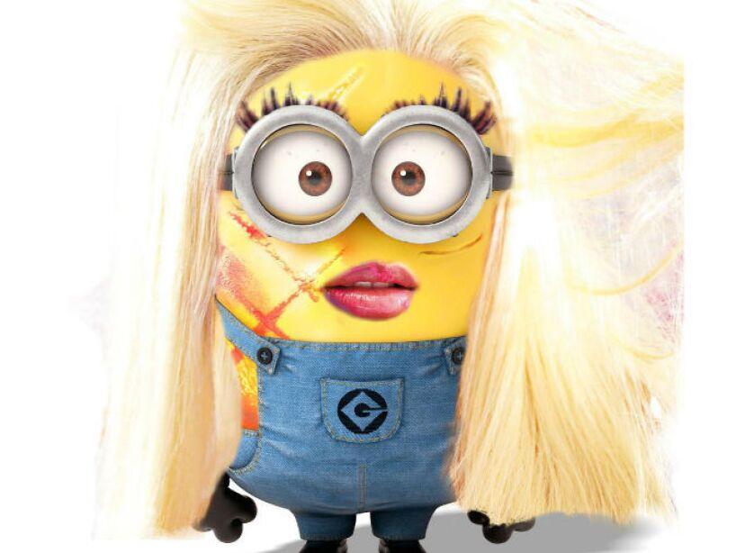 Nicki Minaj: La colorida rappera luce muy coqueta como un Minion de lo más divertido.