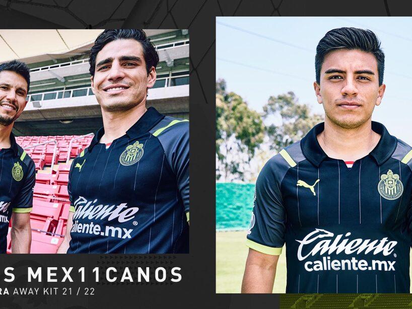 Así luce la nueva playera de visitante de las Chivas de Guadalajara.