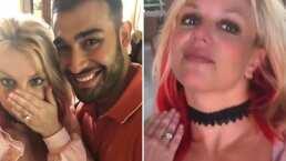 Britney Spears se casa y presume feliz su anillo de compromiso