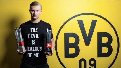 La pasión por el futbol de Haaland viene de su padre, quien fue centrocampista noruego.