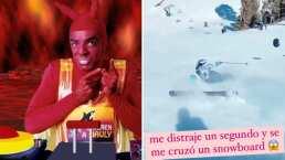 Al estilo de 'El Diablito', Eugenio Derbez se burla del aparatoso accidente de Aislinn en la nieve