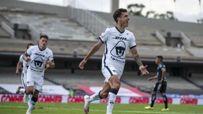 Pumas derrotó a Querétaro en la J1 del Guard1anes 2020 de la Liga BBVA MX |  Con doblete de Dineno, los universitarios se impusieron 3-2 a Querétaro; se anotaron dos autogoles en el partido.