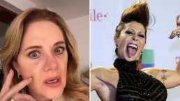 Erika Buenfil reacciona a 'la lengua extranjera que ablanda las piernas' de 'Eternamente Bella'