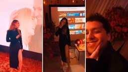 Así fue la sorpresa que le preparó Nodal a Belinda: Entre pétalos, velas y pantallas