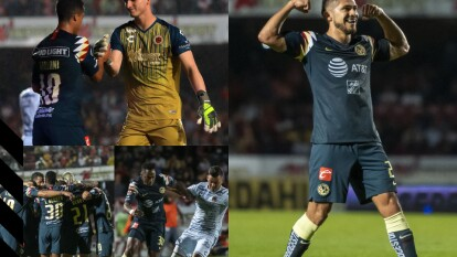 Con triplete de Henry Martin y goles de Nico Castillo y Bruno Valdez, el américa golea 05- en su visita al Veracruz.
