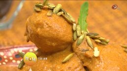 Cocina chef Gibaja Muslos de pollo en pipián rojo