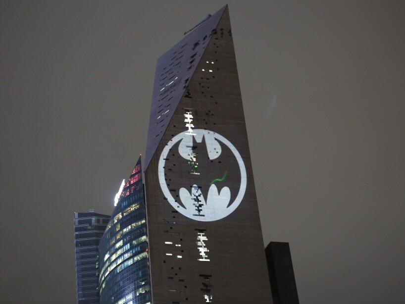 APTOPIX Mexico Batman Signal