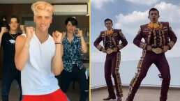 """Tiktokers intentan viralizar baile al ritmo de """"La Chona"""" y mariachis les muestran la coreografía ganadora"""