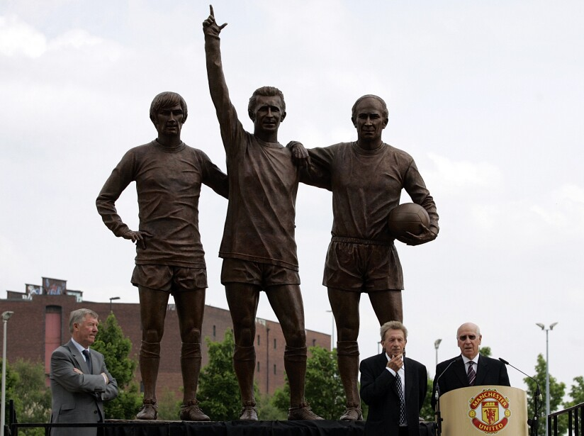 Bobby Charlton, Alex Ferguson, Denis Law