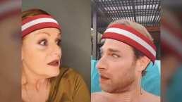 Erika Buenfil le planta una cachetada a Sebastián Rulli en video de Tik Tok