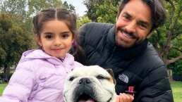 Aitana es toda una niña grande: así salió a pasear en bicicleta con su papá, Eugenio Derbez
