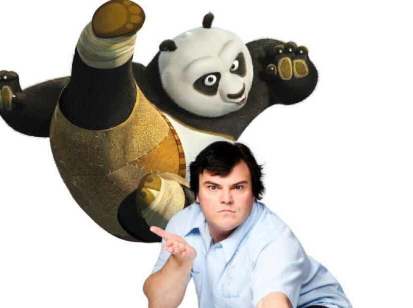 8. Jack Black: Es la voz del divertido Po, el panda amante de las artes marciales de Kung Fu Panda.