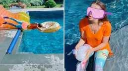 ¡Auch!: Este es el momento en que Thalía sufre doloroso accidente por hacer un TikTok
