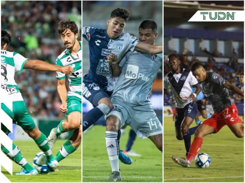 Pachuca 1-1 Atlas, Celaya 1-0 Necaxa, Santos 2-0 Guadalajara.