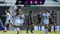 Pumas golea 3-0 a Rayadas y siguen invictas tras tres jornadas