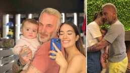 Gianluca Vacchi y Sharon Fonseca enternecen al mostrar el abrazo más hermoso entre ellos y su bebita