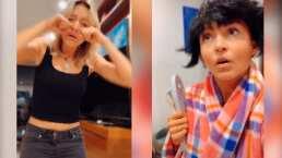 Angelique Boyer quiere salir a perrear la canción de 'Safaera', pero no la dejan