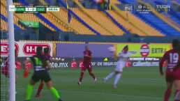 ¿Cómo lo falló? Belén Cruz se perdió el gol de Tigres por un mal cabezazo