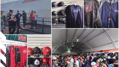 Chamarras clásicas, balones, llaveros, gorras y jerseys de muchos jugadores, eso y más, presente en la NFL Shop.