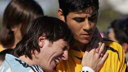 Ustari recibe cerveza conmemorativa del gol que le hizo Messi