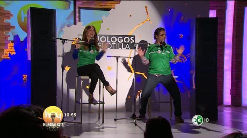 Raúl Araiza y Andrea Legarreta en la Comedia Hoy 18 junio