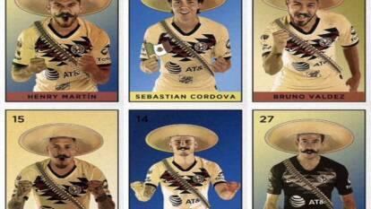 Los jugadores americanistas al estilo de la Revolución Mexicana para conmemorar el 20 de noviembre.