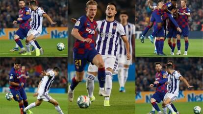 Con goles de Luis Suárez, Lionel Messi, Clément Lenglet y Artur Vidal, el Barcelona se impone 5-1 al real Valladolid.