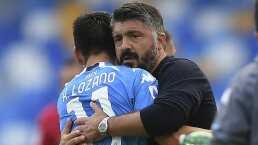 ¡Tranquilidad para 'Chucky' Lozano! Gattuso es reafirmado como DT de Napoli