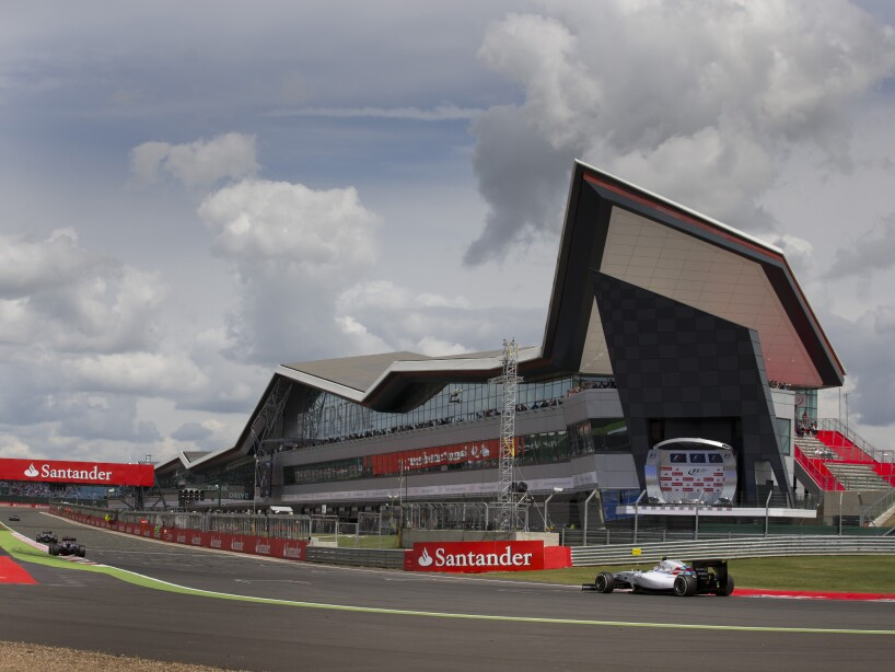 Britain F1 Silverstone Roof Damaged