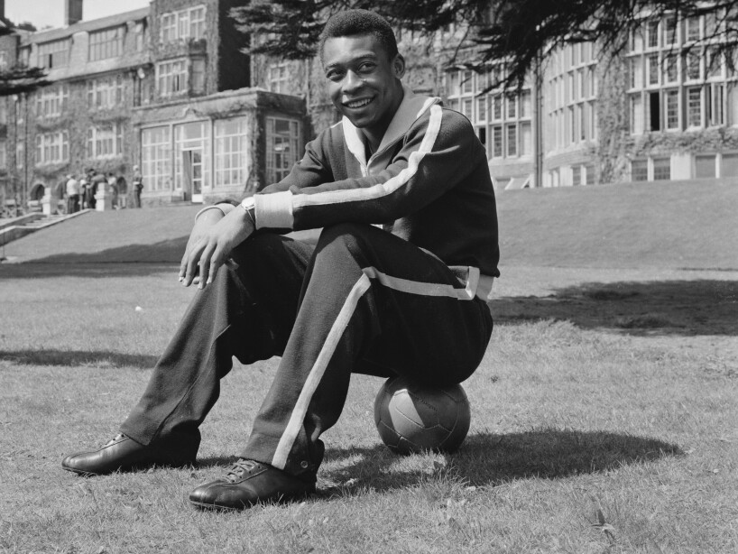 Pele Prepares For England Match