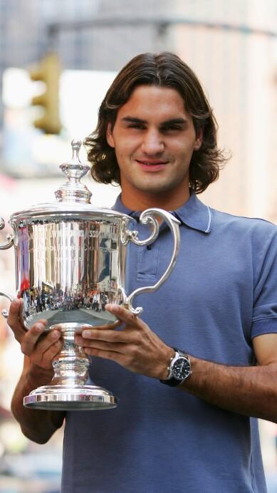 Roger Federer Tours Manhattan