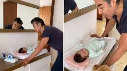 Con solo 2 meses de edad, la hija de Adrián Uribe ya canta y lo hace al ritmo de 'Cielito Lindo'