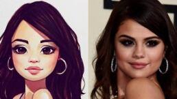 ¡No vas a creer cómo se ven las celebridades siendo caricatura!